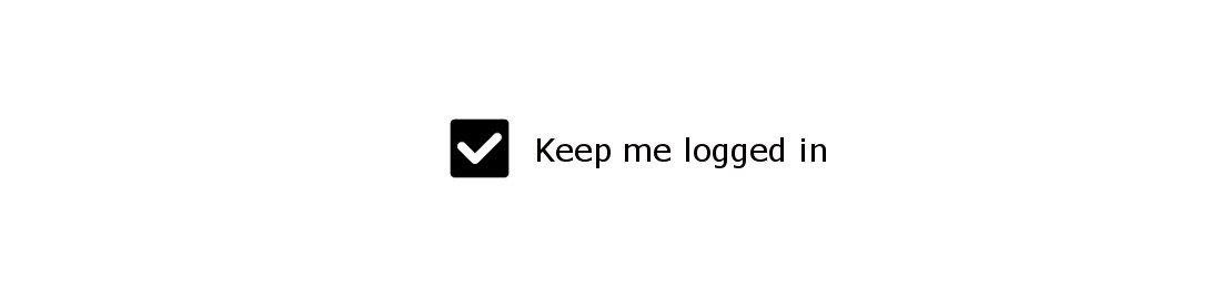 Keep me logged in