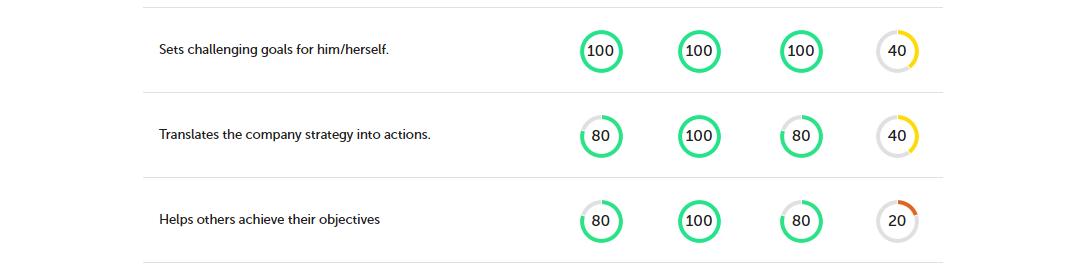 360 feedback charts