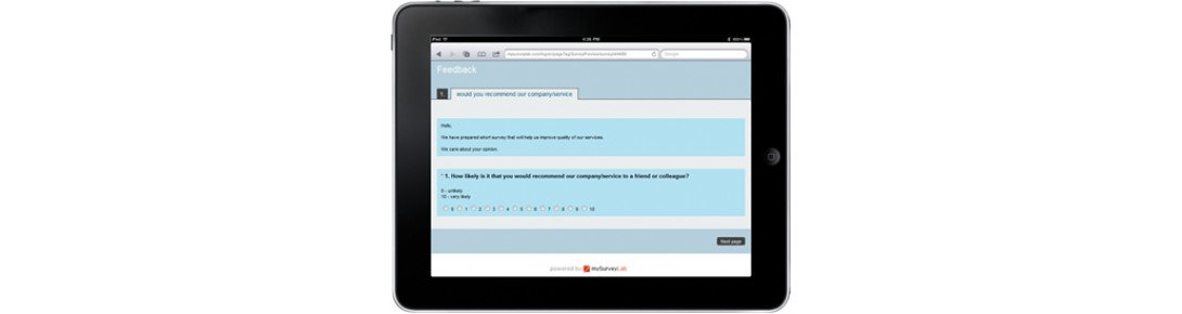 tablet surveys